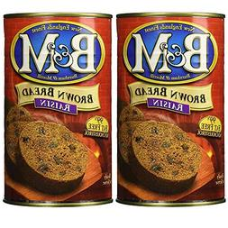 B&M Original Brown Bread in Can: Raisin  2 Pack by B&M