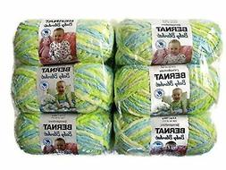BERNAT Baby Blanket Yarn, 3.5oz, 6-Pack  Little Dinosaurs Ne