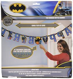 "Batman Jumbo Add-An-Age ""Happy Birthday"" Letter Banner"
