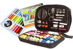 Big Sewing KIT and Sewing Set with 24-Color Threads Bundle-