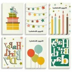 Birthday Card 48 Pack Cards Box Set Happy Bright Party Desig