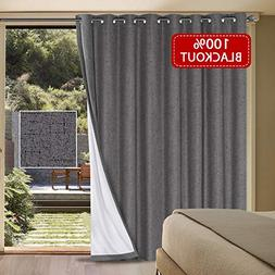 blackout patio door linen curtains