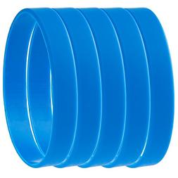 Green House-5pcs Blank Wristband Blue Fashion Sports Silicon