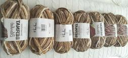 Bernat Blanket Super Bulky Yarn, 5.3oz, Lot of 7 in Sonoma