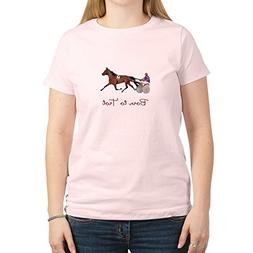 CafePress - Born to Trot - Womens Cotton T-Shirt, Crew Neck,