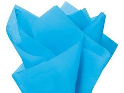 Bright Turquoise Blue Tissue Paper 20 Inch x 30 Inch - 48 XL