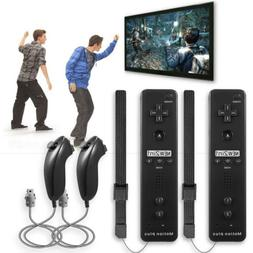 2 Pack x Built in Motion Plus Remote Controller And Nunchuck