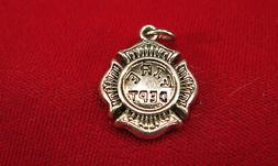 """BULK! 10pc """"fire dept"""" charms in antique silver style"""