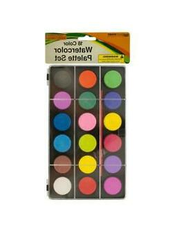Bulk 12 Pack Watercolor Paint Sets with Brush In Palette Cas