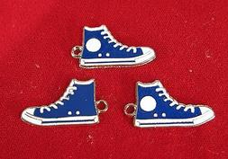 "BULK! 15pc ""sneakers"" charms in blue enamel style"