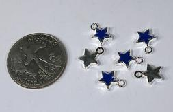 "BULK! 50pc ""blue star"" charms in antique silver"
