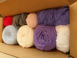 Bulk Bundle Of Yarn Skeins Beautiful Complimentary Colors tw