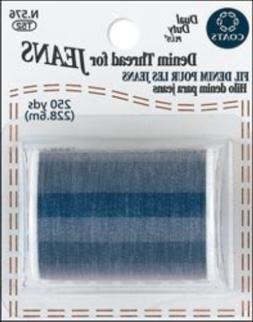 Bulk Buy: Coats & Clark Denim Thread For Jeans 250 Yards Blu