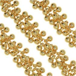Bulk Chain, with 4mm Round Bauble Cluster Links, Sold By The