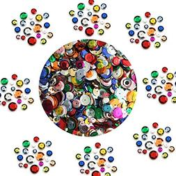 BULK CRAFT CUP SEQUINS MIXED COLORS and SIZES ~ Great Big Pa