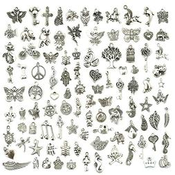 Wholesale Bulk Lots Jewelry Making Silver Charms Mixed Smoot
