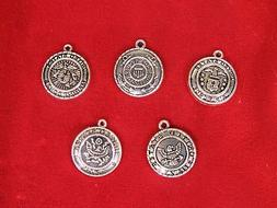 "BULK set 30pc ""military"" charms in antique silver style"
