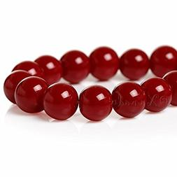 Burgundy Red Wholesale 8mm Round Glass Beads G1739-50 Pcs Be
