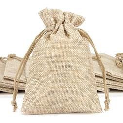 ANPHSIN 75 Pieces Burlap Bags with Drawstring, 5.43x3.74 inc