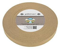 Country Brook Design | Camel Heavy Cotton Webbing with 17 Vi