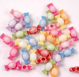 Candy Beads for Hair Raver Kandi Jewelry Kids School Party C