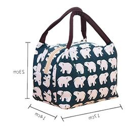canvas reusable insulated lunch bag