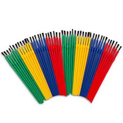 Crenstone Paint Brushes Classroom Bulk Set -- Pack of 48 Pai