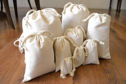 Cotton Muslin Bag in Bulk. Organic Premium Quality. Choose S