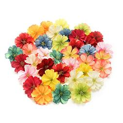 Fake flower heads in bulk wholesale for Crafts Artificial Si