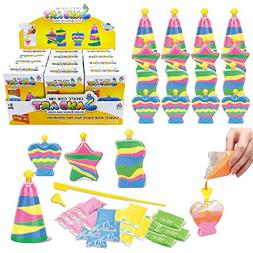 12 Pack Create Your Own Colored Sand Art Kits | Includes 12