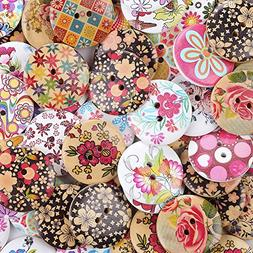Crystallove Bulk 2 Holes 30mm Flower Buttons Mixed for Sewin