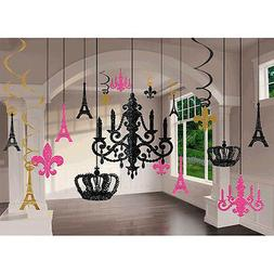 Day in Paris Glitter Chandelier Decoration Kit Wedding Birth