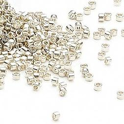 50 Grams Delica Opaque Galvanized Silver Glass Round Seed Be