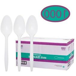 Disposable Plastic Cutlery in Bulk, Medium Weight & White Te