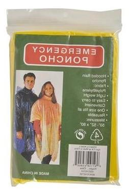 Disposable Rain Poncho Yellow, Sold in Bulk Quantity,