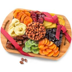 Dried Fruit and Nuts in Keepsake Bamboo Cutting Board Servin