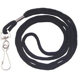 "HOSL Economy BLACK Lanyards Round 36"" with Swivel Hook"