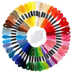 Caydo Embroidery Floss 50 Skeins Rainbow Color Embroidery Th