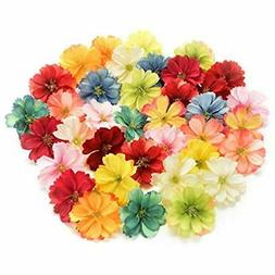 fake flower heads in bulk for crafts