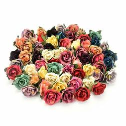 Fake flower heads in Bulk Wholesale for Crafts Mini Silk Ros