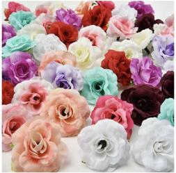 Fake flower heads in bulk Wholesale for Crafts Silk Rose 30p