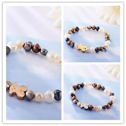 Fashion Simple Women Beauty Bear Colorful Beads Bangle Brace