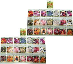 Set of 44 Valley Green Flower Seed Packets! Flower Seeds in