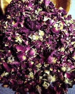 Fragrant Red Rose Petals and Buds in bulk- Dried..8 OZ... FR