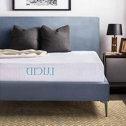 LUCID 10 Inch Gel Memory Foam Mattress - Medium Feel - Certi