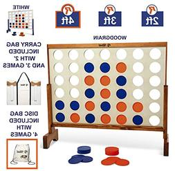 Giant 4 in A Row, 4 to Score - Premium Wooden Four Connect G