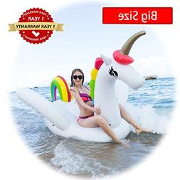 Unicorn Swimming Pool Float Inflatable Raft for Kids and Adu