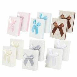 Small Gift Box Set - 12-Piece Cardboard Bows Jewelry Gift Bo