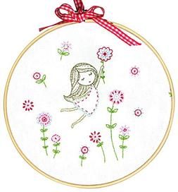 Girl with Red Dress Embroidery Kit