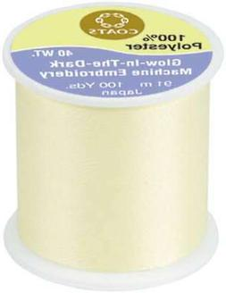 Glow-In-The-Dark Machine Embroidery Thread 100yd-Yellow